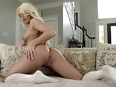 Pure solo nudity with blonde, Cheyenne..