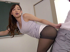 Tight black pantyhose look sexy on..