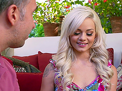 Natural blonde Elsa Jean wants to have..