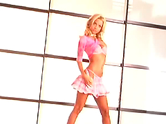 Petite blonde Kimberly Holland boasts..