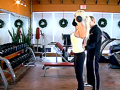 Puma Swede the blonde MILF gets fucked rough in gym