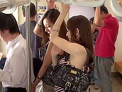 Hot Japanese girls having public sex..