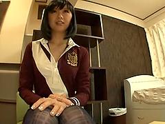 Maki Amamiya In A Schoolgirl Outfit..