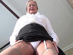 Beautiful matured granny in nylon..