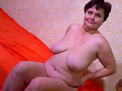 Mature BBW grannies striptease..