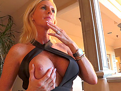 Busty blonde chick successfully gives..