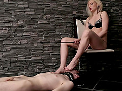 Spirited Russian femdom blonde with..