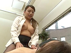 Busty and elegant Japanese girl gives..