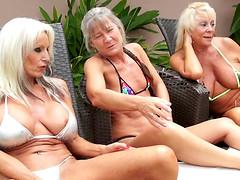 Kinky interracial threesome featuring..