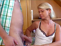 Blonde Stepmom Spreading For Her Horny..