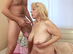 Saggy Breasted Blonde Mature Stepmom..