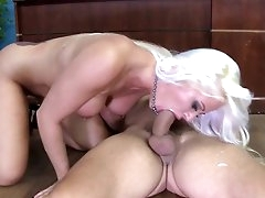 Milf in love with cock goes down on..