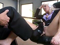 Boss gets to fuck horny secretary in..