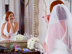 Chubby redhead bride Lennox gets her..