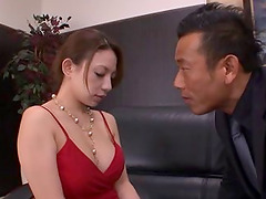 Foxy Japanese babe with big tits gets..