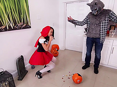 Little red riding hood shagged by the..
