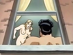 Cartoon cop fucks a hot blonde from..
