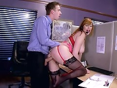 Call center girl holds client to enjoy..