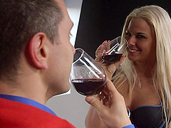 Guy with a fat dick gives Simony the..