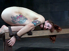 Skinny ginger bitch loves being bound..