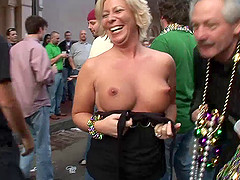Blonde with a big pair of tits is..