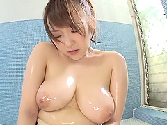 Oiled busty chick called Aino and..