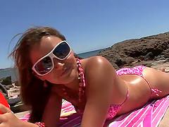 Lovely brunette hottie Allie Haze is..