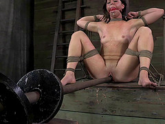 Mia Gold gets tied up and has her..