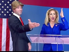 Trump gone mad on hot blonde parody..