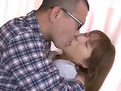 Brunette from Japan moans as the dude..