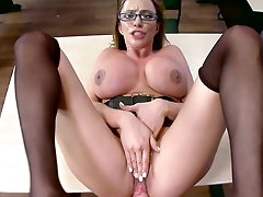Busty mature teacher throats ans fucks..