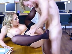 Office fuck in crazy modes for a busty..