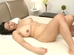 Chubby mature Japanese lady getting..