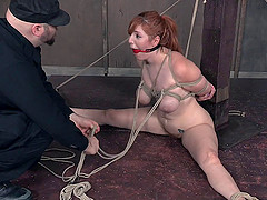 Ruthless guy gives a redhead babe a..