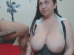 Monster Tits Latin Milf Fucked Doggy..