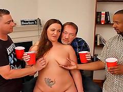 Ass lick anl slutwife Heidi gangbanged..