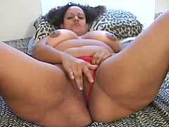 Blacks schlong inside her in doggy..