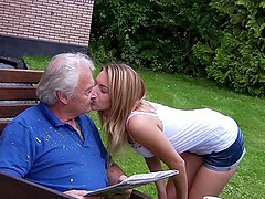Teen Hot Swallowing Grandpa Cumshot..