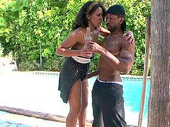 Ebony Bianca Archer has a massive..