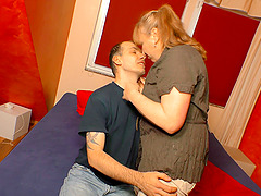 Horny Claudia W bends over for a..