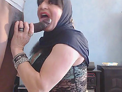 Submissive Arab Wife Pleasing Her..
