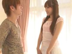 Beautiful Japanese brunette called Ria..