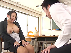 Busty babe Oda Mako wants to feel a..