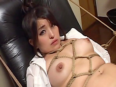Subtitled bizarre Japanese BDSM anal..