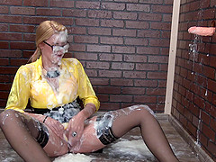 Cum-drenched Izzy Delphine happy after..