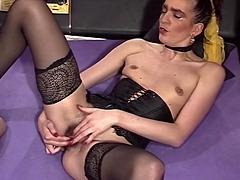 Brunette MILF Sexy Stockings Ass..