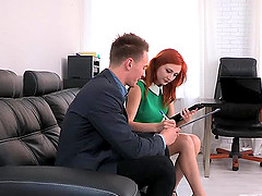 Hot Russian red head Eva helps this..
