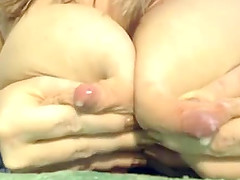 Hot Blonde Webcam Girl Milks Her Tits