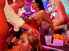 Drunkard model refining huge dick with..