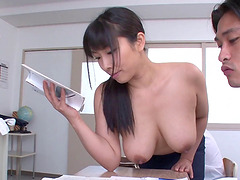 Nozomi Mikimoto loves sucking on an..